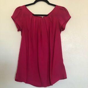 Forever 21 Hot Pink Short Sleeves Blouse.
